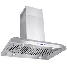 36  Island Mount Stainless Steel Range Hood Kitchen Stove Vent