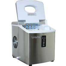 Stainless Steel Portable Ice Maker  Compact Countertop Machine  EdgeStar IP210SS