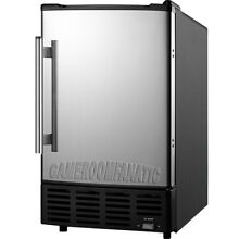 Built In  or  Portable Ice Maker Machine w  Reversible Stainless Steel Door