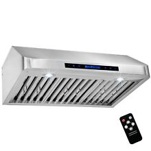 30  Under Cabinet Stainless Steel LED Range Hood Kitchen Vent w  Remote Control