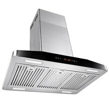 30  Stainless Steel Island Mount Range Hood Cooking Fan Stove Kitchen Vents
