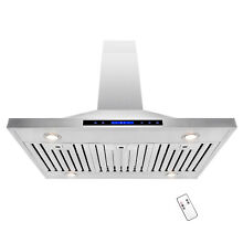 42  Island Mount Stainless Steel Touch Control Kitchen Vent Range Hood