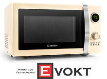 Retro Microwave Oven Microwave 12 Programs Defrost Timer Cream 1000W 23L