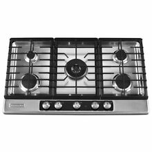 KitchenAid 36  5 Burner Gas Cooktop Stainless Steel Architect Series II KFGU766V