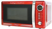 Nostalgia RMO770RED Retro Series 0 7 Cubic Foot 700 Watt Microwave Oven  Red