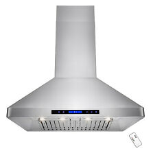 36  Stainless Steel Island Mount Ductless Vented Cooking Fan Range Hood Kitchen