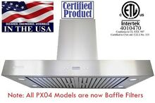 XtremeAir PX04 42  900CFM Wall Mount Kitchen Range Hood Stainless Steel PX04 W42