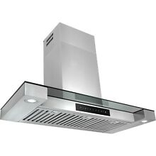 36  LED Display Touch Control Stainless Steel Wall Mount Kitchen Range Hood Vent
