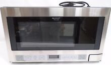 Sharp 1 5 Cu  Ft  1100 Watt Microwave Oven   Stainless Steel R 1214  43187