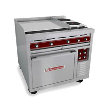 Southbend SE36T HHB 36  Heavy Duty Electric Range W  Round Hot Plates   Hot Tops