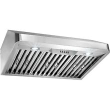 30  Under Cabinet Push Button Control Stainless Steel Kitchen Vent Range Hood