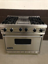 VIKING VGIC365 4GSS 36  Pro Gas Range Oven 4 Burner   Griddle Stainless Steel