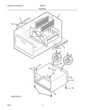134550300 New Electrolux Washer Dryer White Drawer Panel