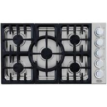 DCS by Fisher   Paykel 36  36 Inch CDU365N 5 Burner Drop in Gas Range Cooktop