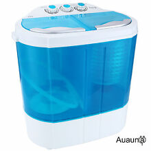 10lbs Mini RV Dorm Compact Washing Machine Portable Spin Dryer Laundry Washer