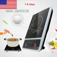 1300W Electric Induction Cooktop Single Cooker Kitchen Hot Plate Portable