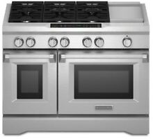 Kitchenaid 6 Burner with Griddle  Dual Fuel Freestanding Range  Commercial Style