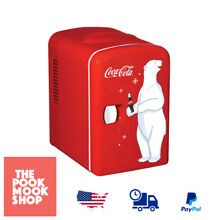 Personal Fridge Red Vintage Compact Mini Chill Self Locking Handle Portable Dorm