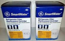 2 GENUINE GE MWF SmartWater Refrigerator Water Filter Replacement Cartridge oem