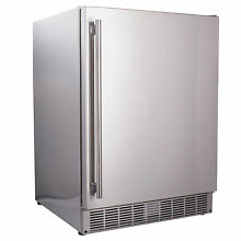 REFURB Maxx Ice 24  Built In Undercounter Outdoor SS Refrigerator 5cf with LED