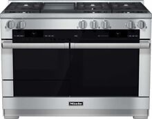 Miele M Touch Series HR1956DFGD 48 Inch Pro Style Dual Fuel Range with Griddle