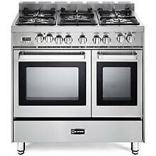 Verona  VEFSGE365NDSS 36 Inch Pro Style Dual Fuel Double Oven Range no tax