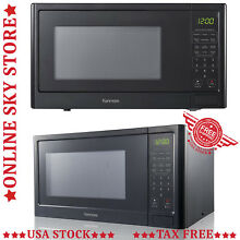 Modern Countertop Microwave Oven Kitchen Black Stainless Steel Counter Top LED