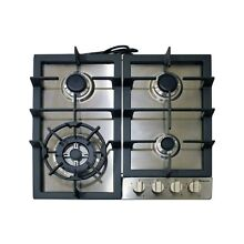 Magic Chef MCSCTG24S 24  Gas Cooktop with 4 Burners  Stainless Steel 2DAY SHIP