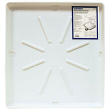 Washing Machine Pan White 30 in x 32 in Home Small Appliance Laundry Accessory