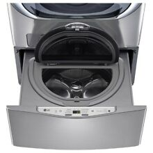 LG Washing Machine 29 in  1 0 cu  ft  SideKick Pedestal Washer in Graphite Steel