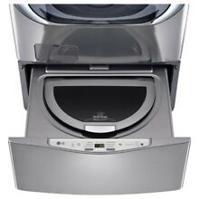 LG Washing Machine 27 in  1 0 cu  ft  SideKick Pedestal Washer in Graphite Steel