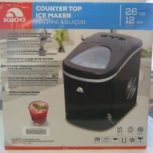 Brand New  Igloo Counter Top Ice Maker  ICE108  In Black Finish
