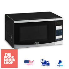 Compact Microwave with Digital Controls Electric Kitchen Countertop 0 7 cu  ft