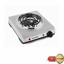 Electric Single Coil Cooking Range Stove Stainless Steel Home Kitchen Appliances