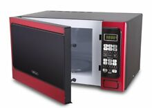 Microwave Oven Digital Family Sized 1000W 1 1 cu  ft  LED display Metallic Red