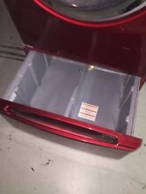 PEDESTAL ONLY   Tromm Pedestal for LG Washer Dryer in Fire Engine Red