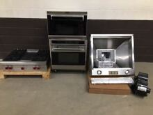4 pc set  Wolf Range Top 36  RT364G   Island Hood  Wall Oven and Microwave
