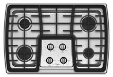 Whirlpool Gold Gas 4 Burner Stainless Steel Gas Sealed Burner Cooktop G7CG3064XS