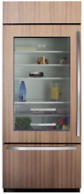 Sub Zero BI30UGO 30 Inch Built in Bottom Freezer Refrigerator Glass Door Left H