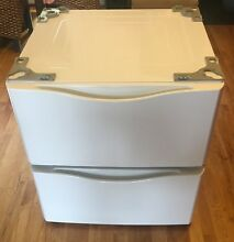 Washer Dryer Pedestal 27  White Kenmore 796 51022900 Lot of 2
