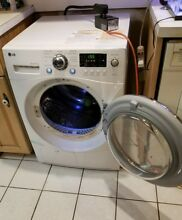 220 Volts electric   compact    24  wide  condensed clothes dryer LG  warranty