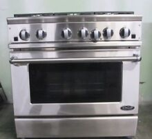DCS RGT366SSN 36 Inch Pro Style Gas Range Fits Full Size Commercial Pans