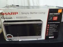 EXCELLENT CONDITION Sharp SMC1840CS Countertop Microwave 1100W 1 8 cu ft TESTED