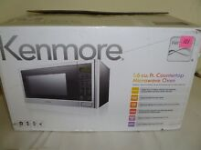 EUC Kenmore P11043APH WJS 1 6 Cu Ft 1100W Microwave Oven Stainless Steel    P102