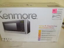EXCELLENT USED CONDITION Kenmore 75653 1 2 cu  1100W Microwave Stainless    P93