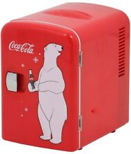 Coca Cola Red Mini Refrigerator Dorm Office Small Fridge Cold Drinks 12 oz  Can