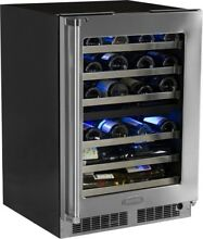 Marvel 24  Pro SS Dual Zone Wine Cellar MP24WDG4RS