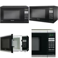 Panasonic 1 Touch Sensor Cooking 1 2 Cubic ft 1200watt Home Microwave Oven Black
