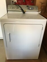 GE 27  White Front Load Electric Dryer