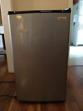 Magic Chef Mini Fridge   Refrigerator Stainless steel Black   Pickup Only